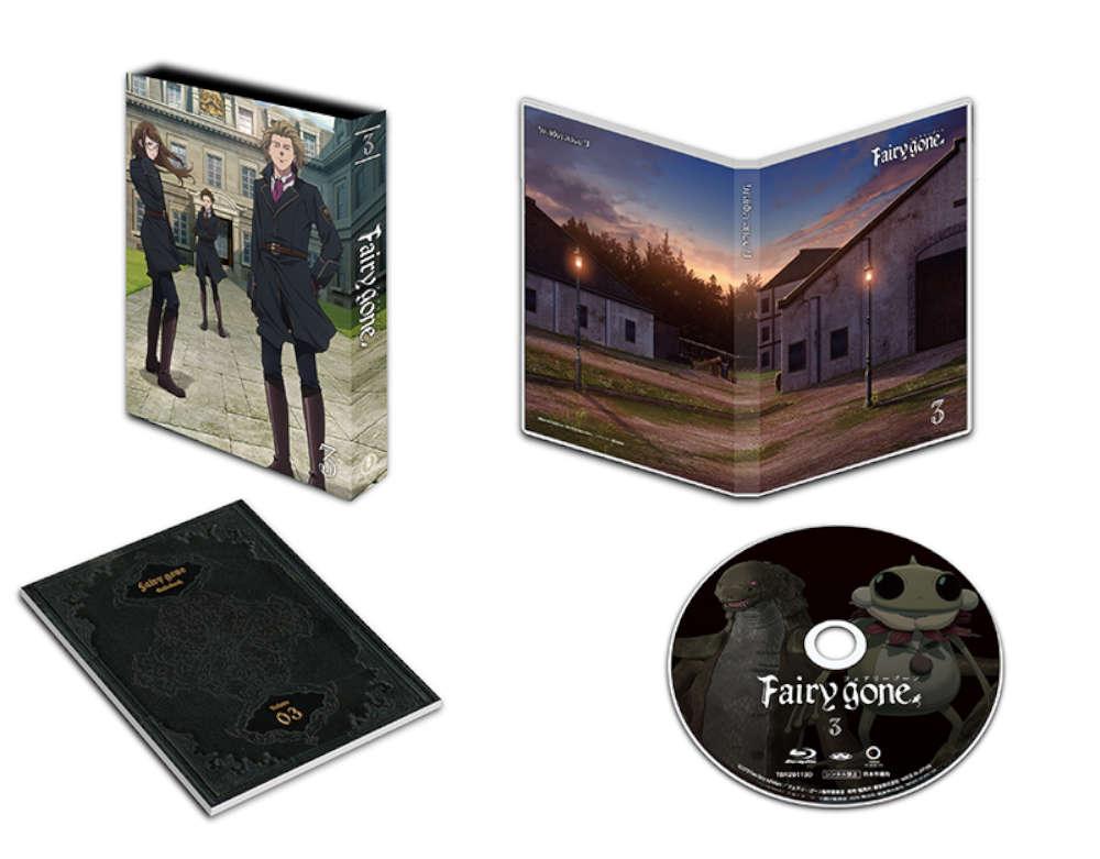 【TOHO animation STORE 限定版】Fairy gone フェアリーゴーン Blu-ray Vol.3+ミニキャラアクリルキーホルダー&ミニ小説セット