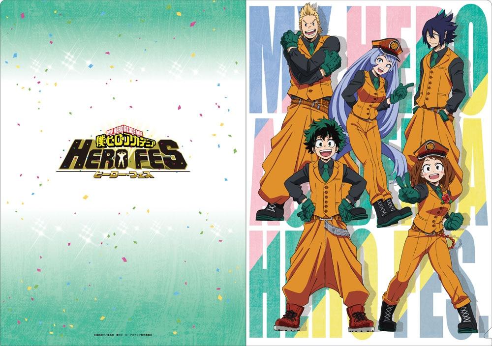 僕のヒーローアカデミア 「HERO FES.<ヒーロー・フェス>」 クリアファイル3枚セット A