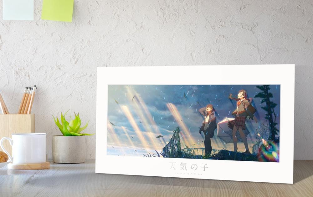【TOHO animation STORE限定版】天気の子 Blu-ray コレクターズ・エディション 4K Ultra HD Blu-ray 同梱5枚組(初回生産限定)+描き下ろし高精細プリントビジュアル&線画ペアグラスセット
