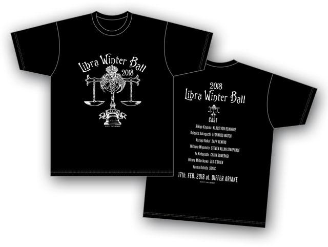 血界戦線 & BEYOND 「ライブラ日本支部 冬の舞踏会」イベントTシャツ 黒 <Lサイズ>