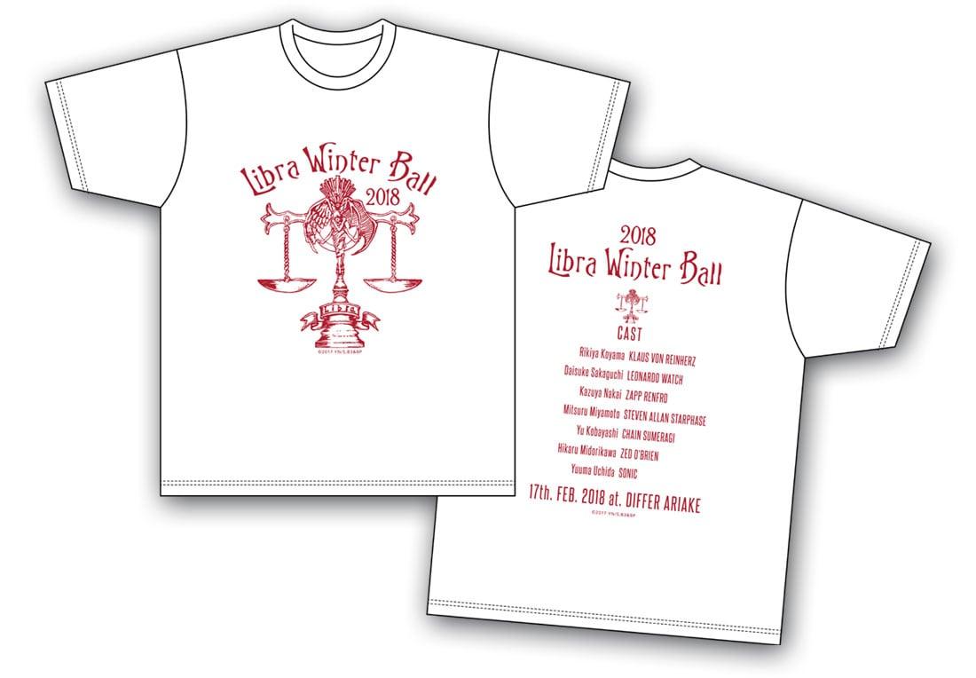 血界戦線 & BEYOND 「ライブラ日本支部 冬の舞踏会」イベントTシャツ 白 <Mサイズ>