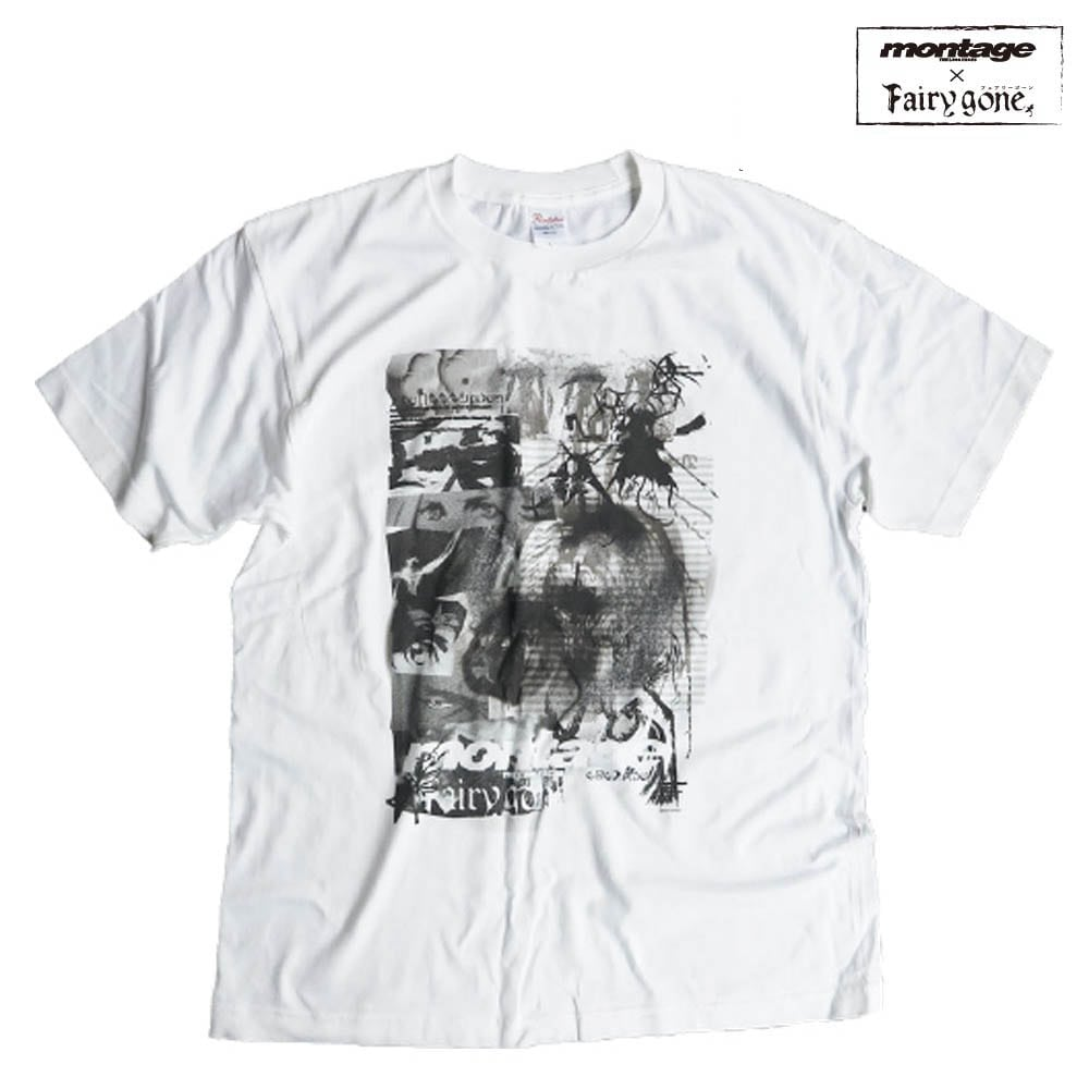Fairy gone × montage story mind tee color WHITE(Mサイズ)