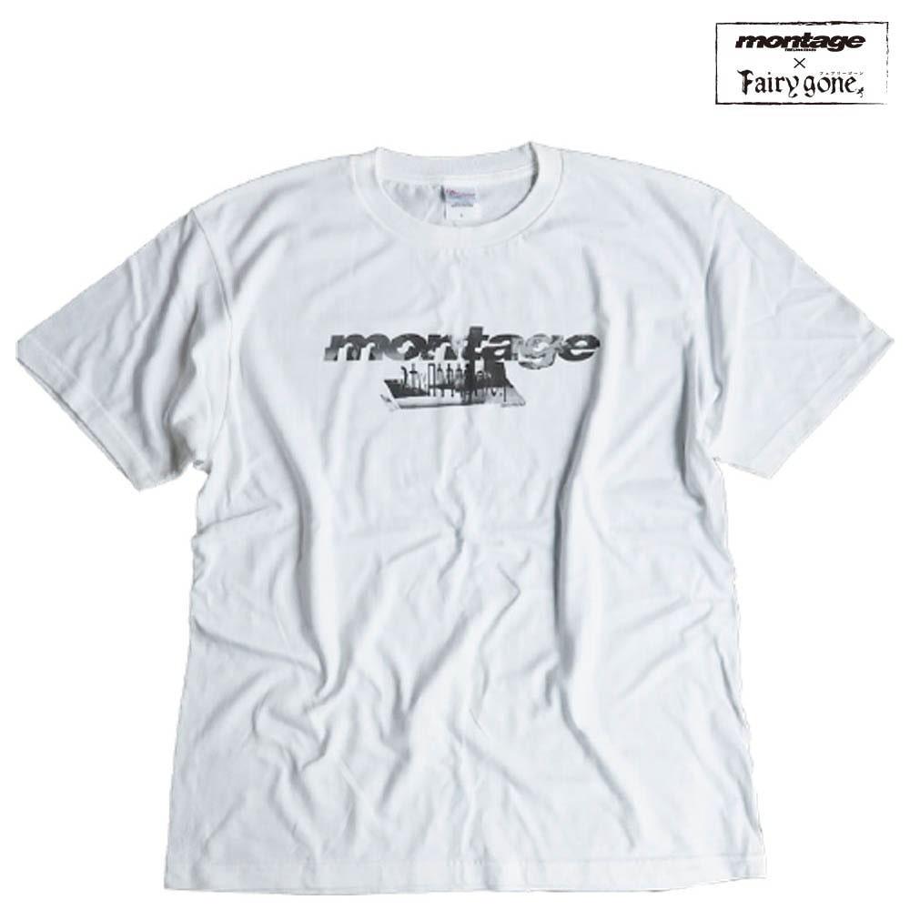 Fairy gone × montage noize logo tee color WHITE(Lサイズ)