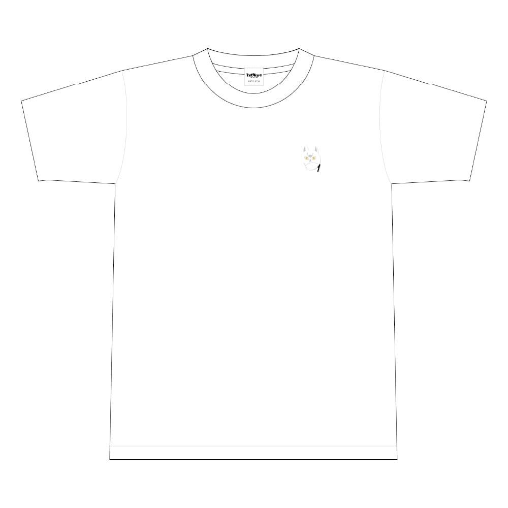 ハイキュー!! TO THE TOP ビーチボール風ワンポイント刺繍Tシャツ 文房具カフェコラボ <北> Sサイズ