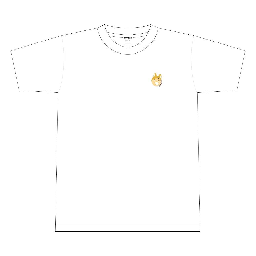 ハイキュー!! TO THE TOP ビーチボール風ワンポイント刺繍Tシャツ 文房具カフェコラボ <宮侑> Lサイズ