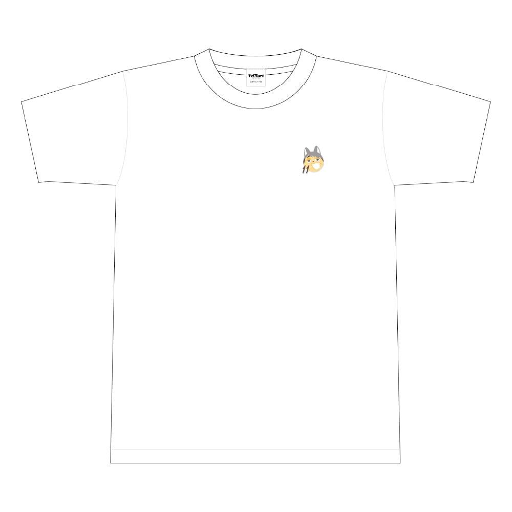 ハイキュー!! TO THE TOP ビーチボール風ワンポイント刺繍Tシャツ 文房具カフェコラボ <宮治> Sサイズ