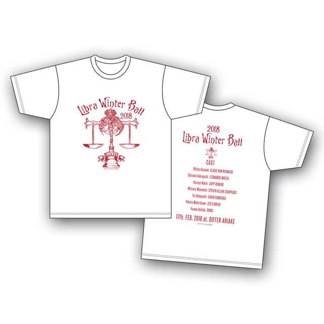血界戦線 & BEYOND 「ライブラ日本支部 冬の舞踏会」イベントTシャツ 白 <Sサイズ>