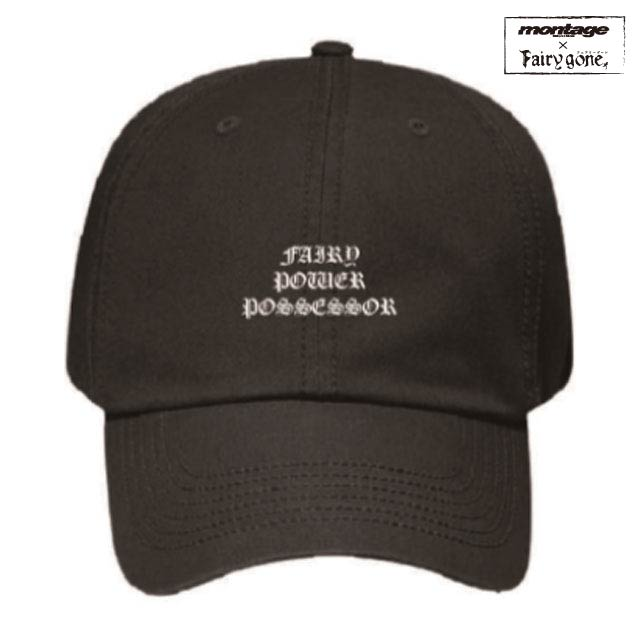 Fairy gone × montage fairy control agency cap color BLK/WHT