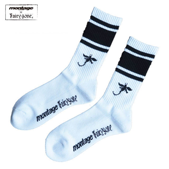 Fairy gone × montage LINE SOX color WHITE