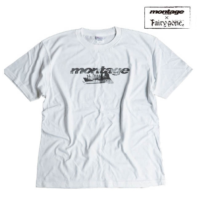 Fairy gone × montage noize logo tee color WHITE(Lサイズ)