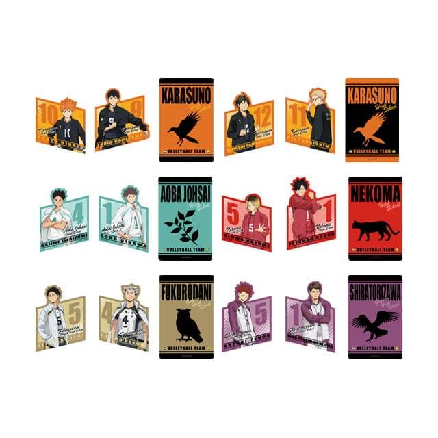 ハイキュー!! 「全国大会への道」 トレーディングステッカー3枚セット【全6種】  ランダム3個セット