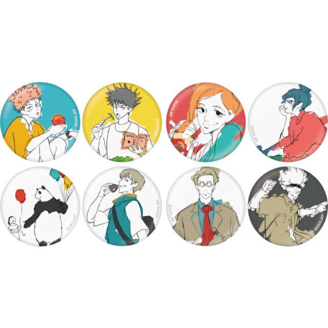 呪術廻戦 トレーディング缶バッジ AnimeJapan 2021 Ver.【全8種】 ランダム4個セット