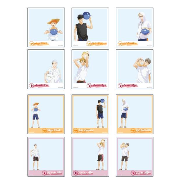 ハイキュー!! TO THE TOP トレーディングポラロイド風アクリルカード 文房具カフェコラボ【全12種】 ランダム3個セット